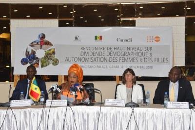 Rencontre de haut niveau sur le dividende démographique et l'autonomisation des femmes et des filles, 12 et 13 Novembre 2018 à Dakar