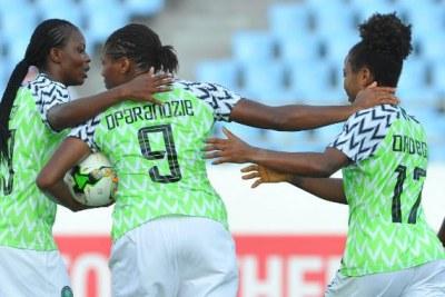 Les Super Falcons du Nigeria lors de la CAN 2018