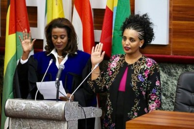 The House of Peoples` Representatives appointed Birtukan Mideksa as the new Chairperson of the National Electoral Board today.
