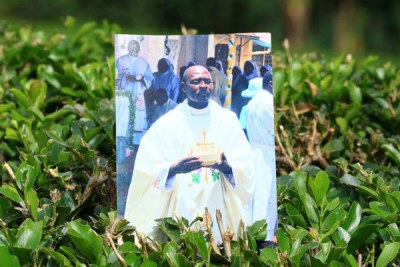 A still photo of Father Cosmas Omboto, the Catholic priest who was murdered in Cameroon, on November 21, 2018.
