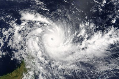 Tropical Cyclone Fantala northeast of Madagascar on 17 April 2016.