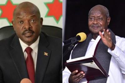 Pierre Nkurunziza président du Burundi et Yoweri Museveni président de l'Ouganda