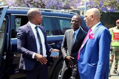 Former Zanu PF MP Psychology Maziwisa, former ZBC news anchor Oscar Pambuka and lawyer (file photo).