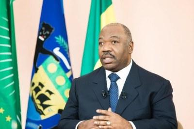 Le président Ali Bongo lors de ses vœux télévisés aux Gabonais le 31 décembre 2018.