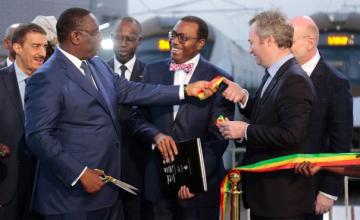 Le Président de la BAD et Sall réceptionnent le train express régional
