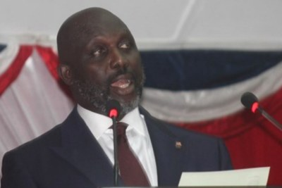 President George M. Weah, during his second Annual Address to the Joint session of the National Legislature on January 28, 2019.