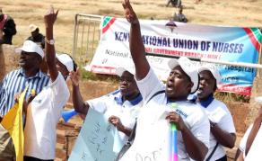 Striking Nurses Not Going Back to Work Despite Kenyatta's Orders
