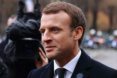 President Emmanuel Macron (file photo).