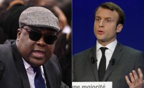 Félix Tshisekedi et Emmanuel Macron en tête-à-tête au Kenya