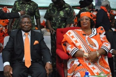 Opposition leader Joyce Banda and Jerry Jana, who was going to be her running mate.