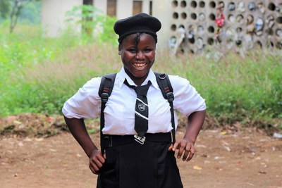 Fatmata Sesay re-enrolled in school after becoming pregnant at age 15.