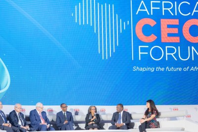 Panel d'ouverture de l'Africa CEO Forum à Kigali