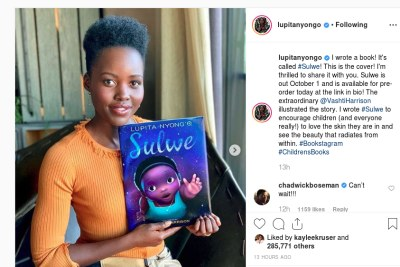 Lupita Nyongo reveals her 'Sulwe' book cover.