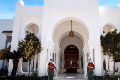 Entrée du Palais présidentiel à Alger