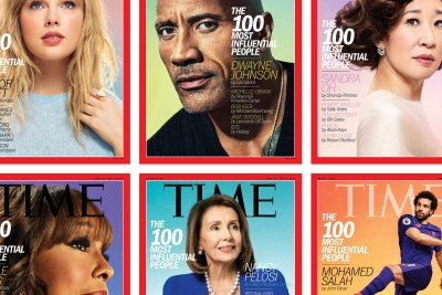 The six covers for Time magazine's list of 2019's most influential people.