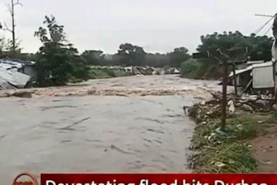 Flooding in Durban.