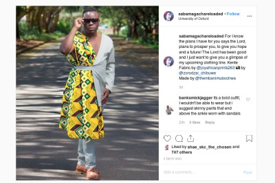 Sebastian Magacha's outfit sparks controversy on social media.