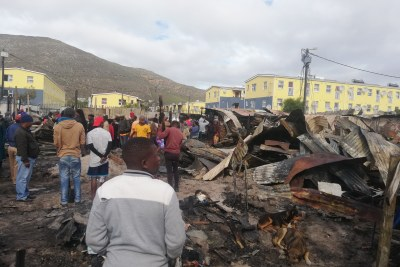 The aftermath of the fire in Masiphumelele.