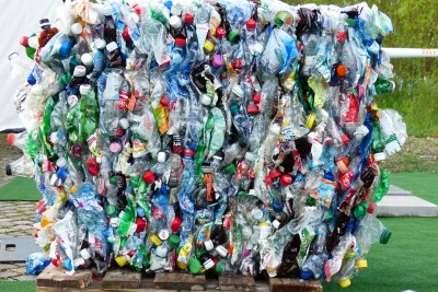 Plastic bottles for recycling (file photo).