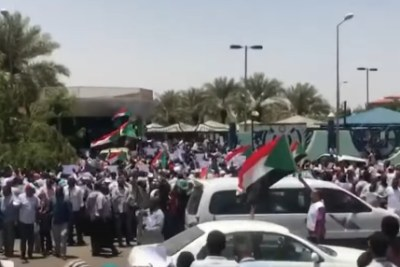 The protests in Sudan on May 30, 2019.