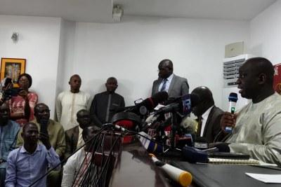 Aliou Sall a vigoureusement réfuté les accusations de corruption portées contre lui par la BBC, lors d'une conférence de presse, le 3 juin 2019.