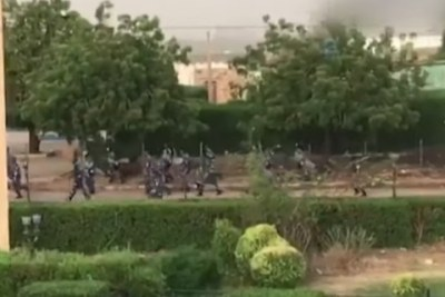 Soldiers on the streets of Khartoum, June 4, 2019.