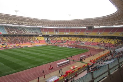 The Olympic Stadium of Radès. Photo taken during the final of the CAF Champions League 2012.