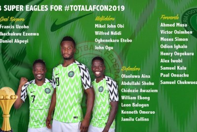 Super Eagles AFCON 2019 squad.