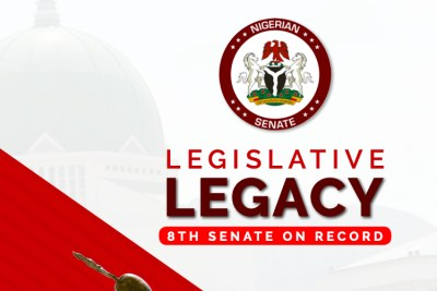 Two books have been released highlighting the impact of the work of the 8th Senate of Nigeria between 2015 and 2019. The books are titled the 'Legislative Legacy: 8th Senate on Record' and 'Masterplan: The Economic Reform Agenda of the 8th National Assembly'.