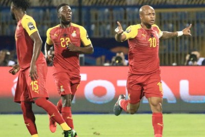 Ghana skipper André Ayew scored his side's first goal in the 2-2 draw against Benin.