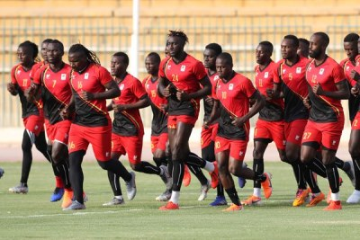 Uganda players during the 2019 Africa Cup of Nations Finals Uganda Training at Arab Constractors Staium, Cairo, Egypt on 20 June 2019.