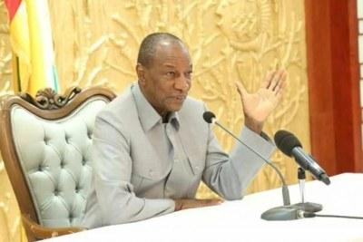 Le président Alpha Condé