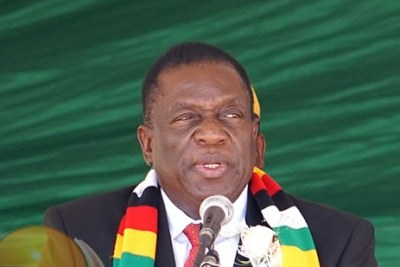 Président Emmerson Mnangagwa (photo d'archives).