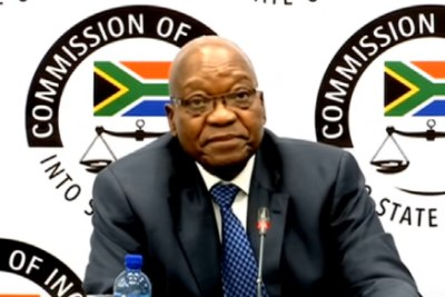Former President Jacob Zuma at the state capture inquiry, July 16, 2019.