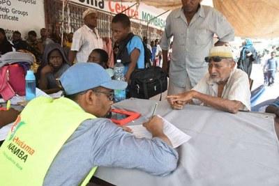 Coastal residents register for Huduma Namba on May 17, 2019.