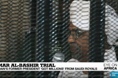 Ousted Sudanese President Omar al-Bashir in court on August 19, 2019.