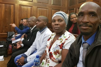 From right, James, Rosina and Lucas Komape in court (file photo).