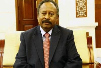 Sudan's Prime Minister, Dr. Abdallah Hambdok