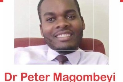 A Zimbabwe Association of Doctors for Human Rights poster about missing doctor Peter Magombeyi.