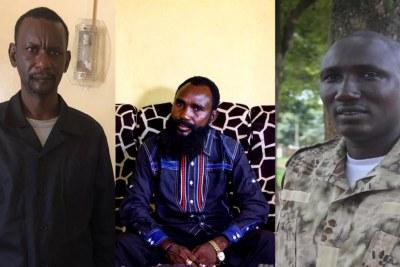 De gauche à droite : Sidiki Abass, Mahamat Al Khatim et Ali Darassa, tous des chefs de guerre en Centrafrique.