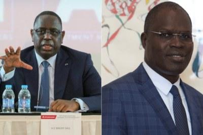 Senegal President Macky Sall and political rival Khalifa Sall