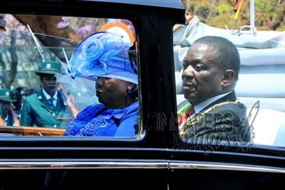 President Emmerson Mnangagwa and First Lady Auxillia Mnangagwa (file photo).