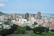 The skyline of Port Louis, the capital of Mauritius in 2011.