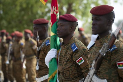 Members of the Burkinabe honor guard (file photo).