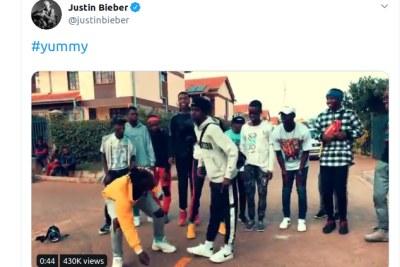 Kibera dance group, Dance 98, jamming to Justin Bieber's song Yummy.