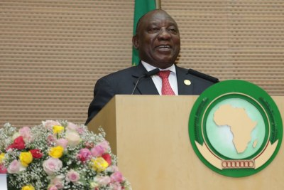 President @CyrilRamaphosa, President of the Republic of #SouthAfrica has been elected Chairperson of the @_AfricanUnion  for 2020. 33rd #AUSummit