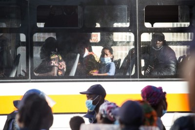 Refugees occupying the Central Methodist Mission Church on Greenmarket Square were moved using buses to a new location on Thursday