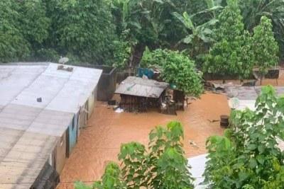 Pluies diluviennes à Abidjan