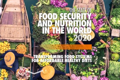 The 2020 state of food security report has been released.