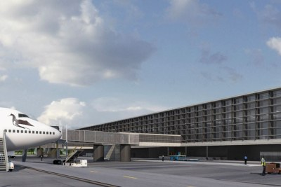 La maquette du futur aéroport de Ouagadougou